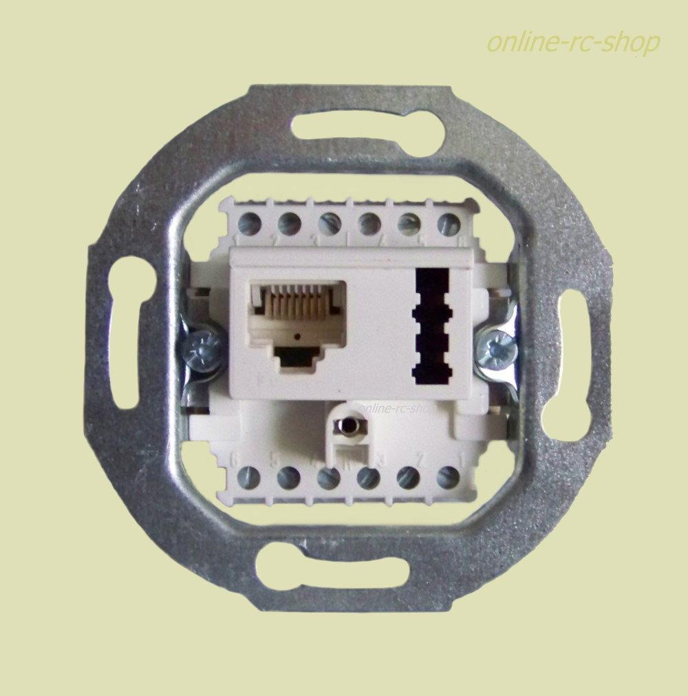 Rutenbeck DSL ISDN TAE Kombidose Unterputz UP beige Netzwerk Tel.