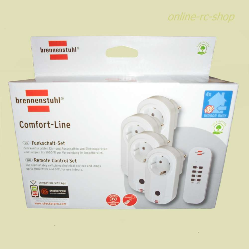 Brennenstuhl Comfort-Line Funkschalt-Set RC CE1 4001 Steckdosen Fernbedienung