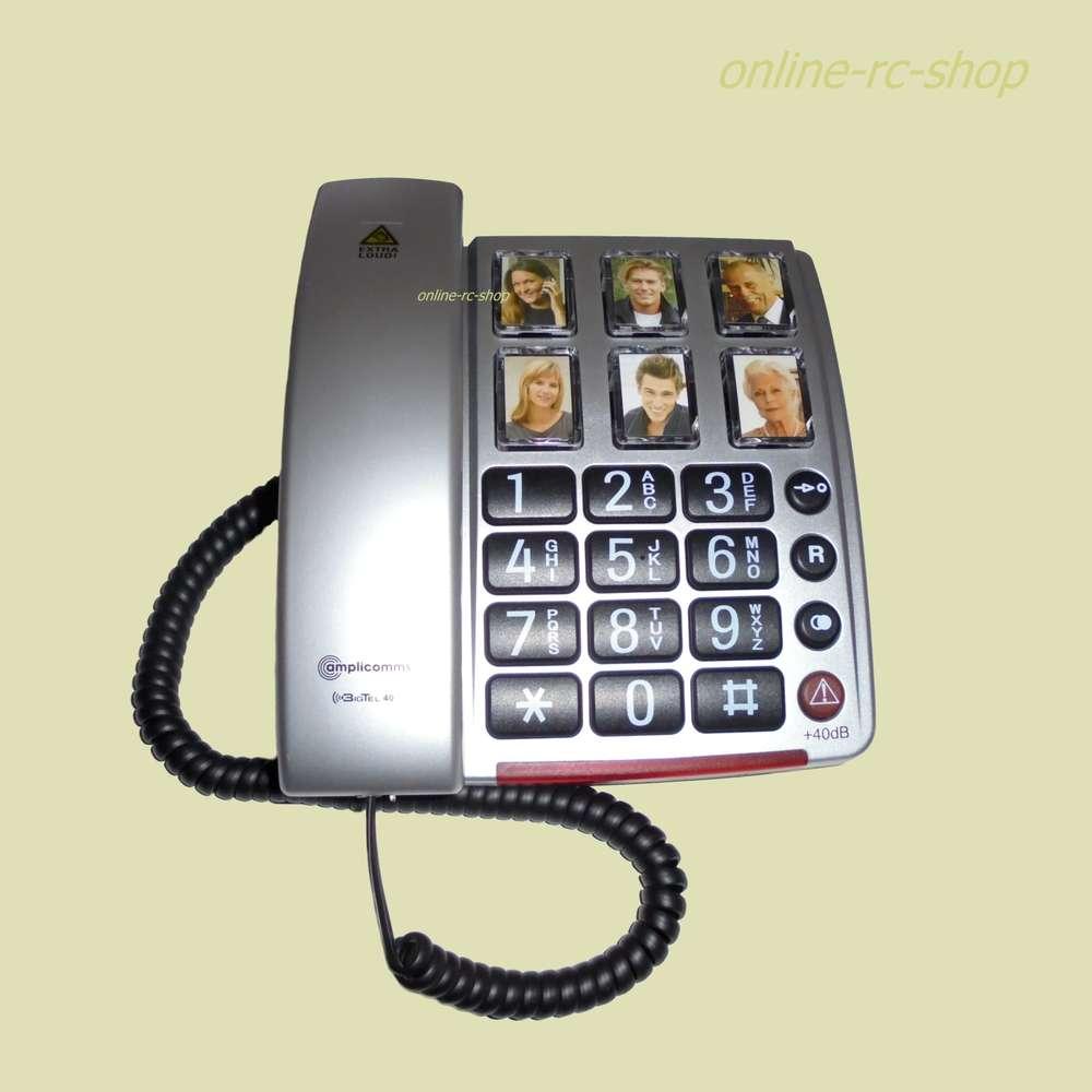 amplicomms bigtel 40 plus  Amplicomms Grosstastentelefon BIG Tel 40 Plus Fototasten Telefon