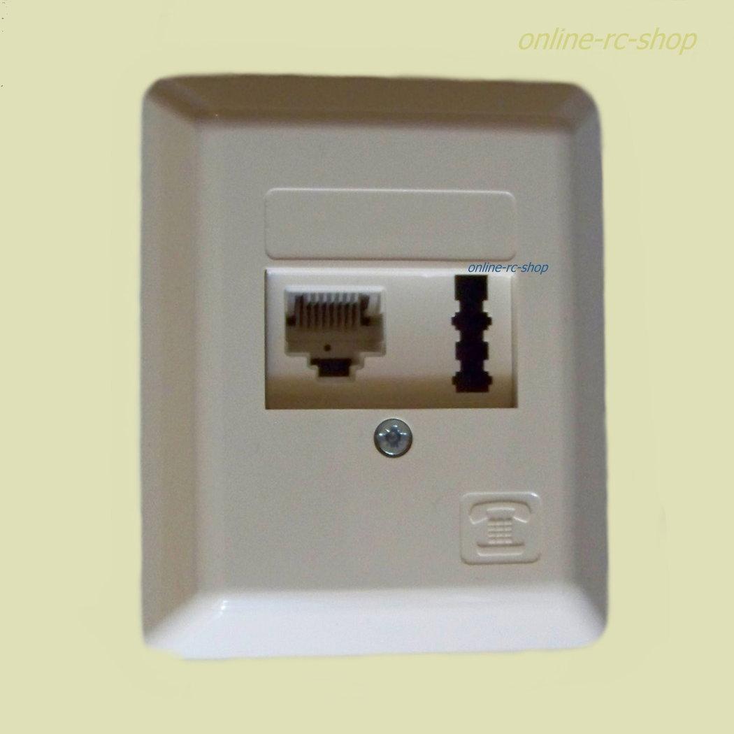 rutenbeck dsl isdn tae kombidose aufputz ap dose beige netzwerk. Black Bedroom Furniture Sets. Home Design Ideas
