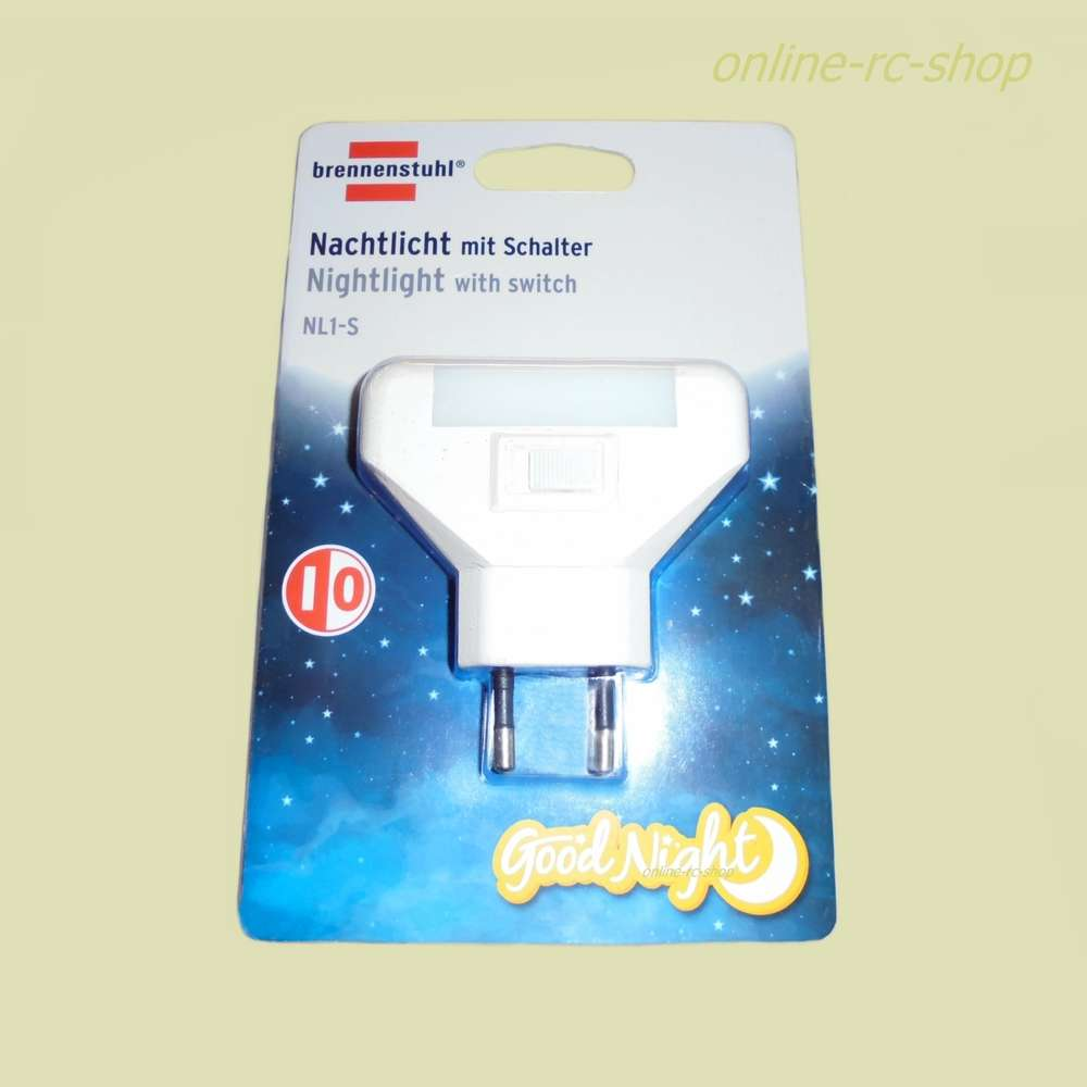 Brennenstuhl Nachtlicht NL1-S mit Schalter 1,5W Licht Sicherheit